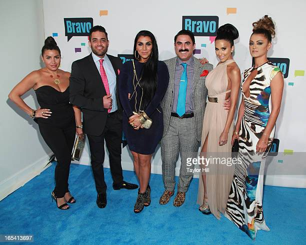 TV personalities Mike Shouhed Mercedes Javid Asa Soltan Rahmati Reza Farahan Lily Ghalichi and Golnesa Gharachedaghi of 'Shahs of Sunset' attend the...