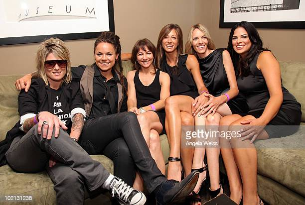 TV personalities Mikey Koffman Whitney Mixter producer Ilene Chaiken TV personalities Jill Goldstein Nikki Weiss and Rose Garcia attend the premiere...