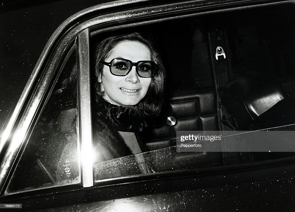 12th November 1969, British fashion model, showgirl and socialite April Ashley pictured as she leaves London's High Court where a case is being heard to determine whether she was a man or a woman at the time of her marriage to Arthur Corbett, April Ashley, born 1936, caused a sensation when it was uncovered she was a transsexual, (circa 1970) having been born George Jamieson, After her gender reassignment in Morocco in 1960 she became a top model, 'Queen of the Catwalk' and Vogue's top underwear model until her 'secret' was revealed, this led to her husband Arthur Corbett divorcing her