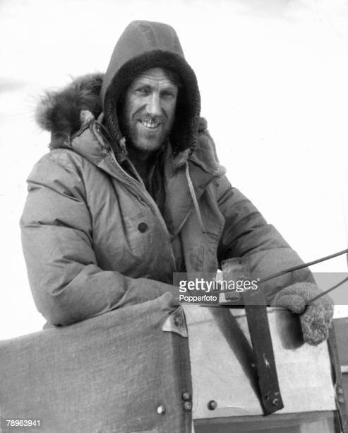 26th January 1958 Sir Edmund Hillary born 1919 New Zealand mountaineer and explorer seen here tired but smiling shortly after reaching the South Pole...