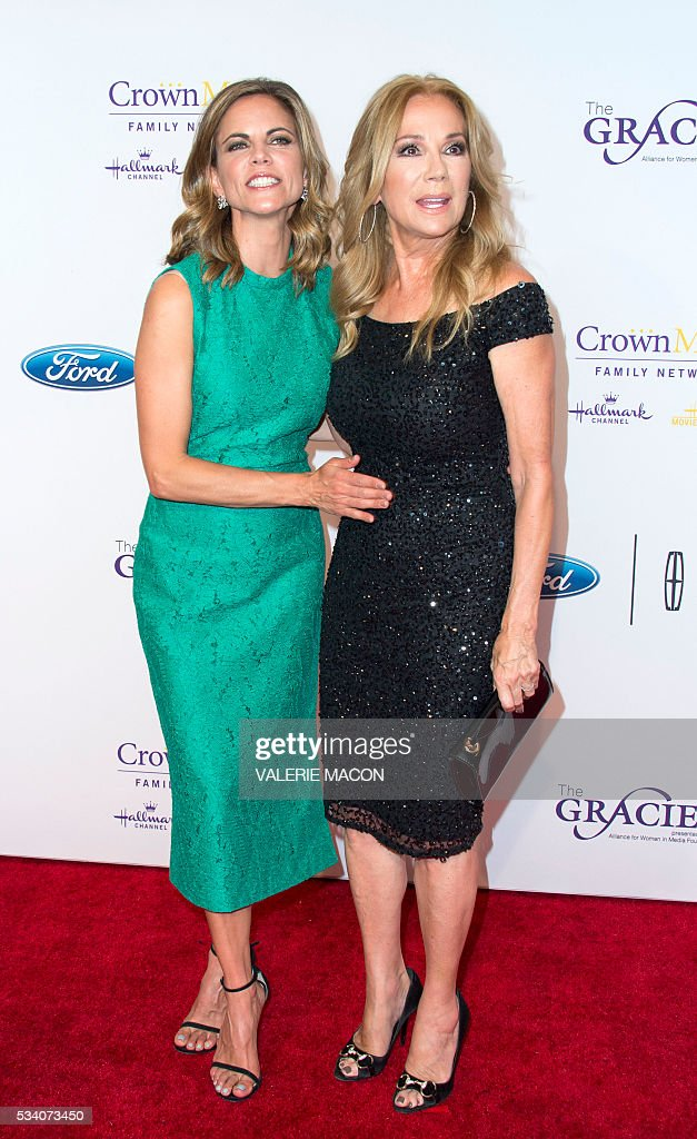TV personalities Natalie Morales (L) and Kathie Lee Gifford attend the 41st Annual Gracies Awards Gala in Beverly Hills, California, on May 24, 2016. / AFP / VALERIE
