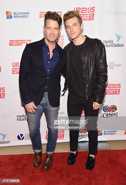 TV personalities Nate Berkus and Jeremiah Brent attend the Up2Us Sports celebration of 5 Years of change through sports on June 3 2015 at the IAC...