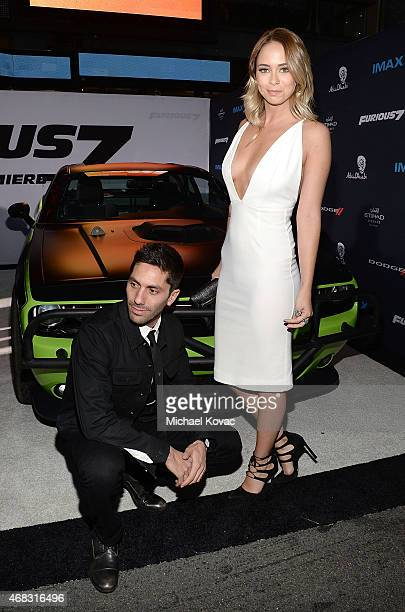 TV personalities Nev Schulman and Tully Smyth attend the Furious 7 Los Angeles Premiere Sponsored by Dodge at TCL Chinese 6 Theatres on April 1 2015...