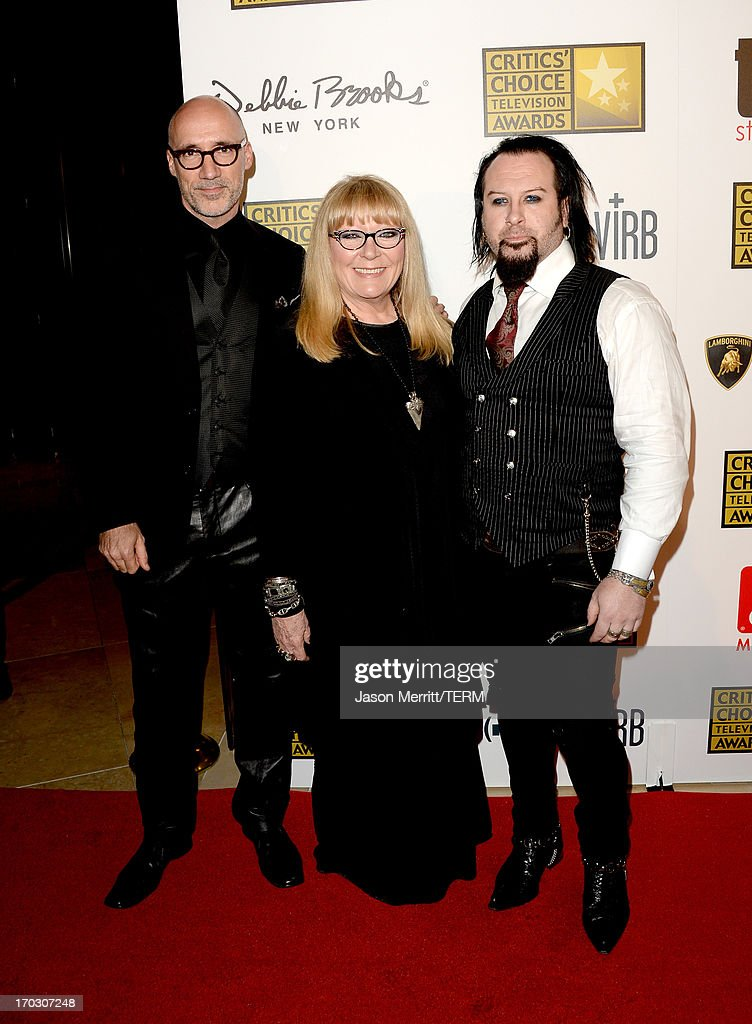 TV Personalities Neville Page, Ve Neill and Glenn Hetrick arrive at Broadcast Television Journalists Association's third annual Critics' Choice Television Awards at The Beverly Hilton Hotel on June 10, 2013 in Beverly Hills, California.