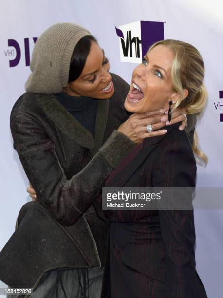 Personalities Nicole Murphy and Jessica Canseco attend 'VH1 Divas' 2012 at The Shrine Auditorium on December 16 2012 in Los Angeles California