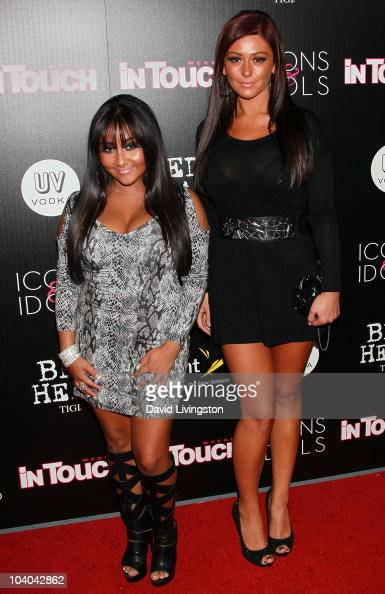 TV personalities Nicole 'Snooki' Polizzi and Jenni 'JWoww' Farley attend In Touch Weekly's annual 'Icons Idols' celebration at Bar Marmont on...