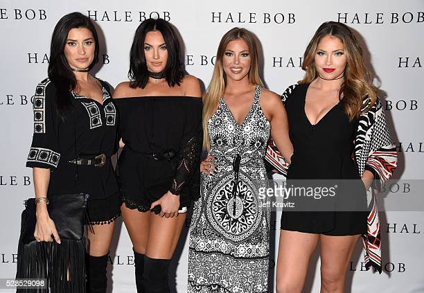 TV personalities Nicole Williams Natalie Halcro Sophia Pierson and Olivia Pierson attend the Hale Bob Fiesta on May 5 2016 in Beverly Hills California