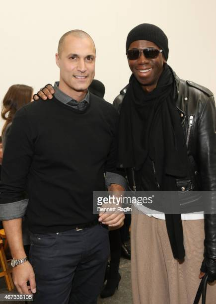 TV personalities Nigel Barker and J Alexander attend the Duckie Brown show during MercedesBenz Fashion Week Fall 2014 at Industria Superstudio on...