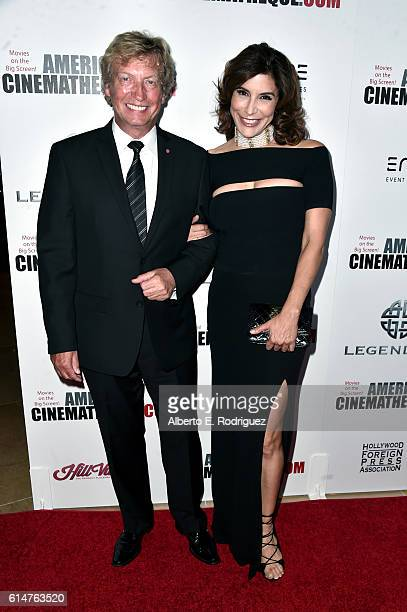 TV personalities Nigel Lythgoe and Jo Champa attend the 30th Annual American Cinematheque Awards Gala at The Beverly Hilton Hotel on October 14 2016...