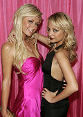 TV Personalities Paris Hilton and Nicole Richie attend a welcome home party from a month long trip on the road of Simple Life 3 Interns on November...