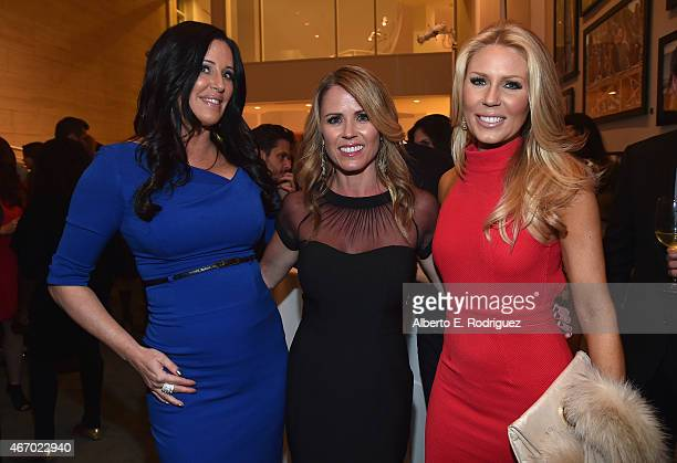 TV personalities Patti Stanger Trista Sutter and Gretchen Rossi attend the WE tv presents 'The Evolution of The Relationship Reality Show' at The...