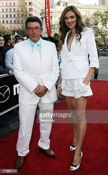 TV personalities Paul Holmes and Petra Bagust arrive at the preparty ahead of the 42nd Vodafone New Zealand Music Awards 2007 at the Aotea Centre on...
