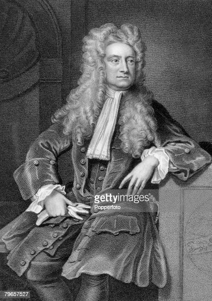 circa 17th Century Sir Isaac Newton English scientist and mathematician famous for his theory of gravitation