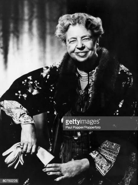 circa 1940 American humanitarian Eleanor Roosevelt the wife of Franklin D Roosevelt the President of the United States