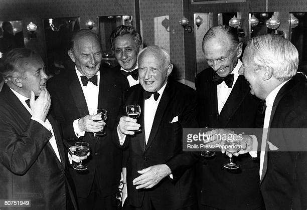 21st October 1974 Lord Emanuel 'Manny' Shinwell centre front at the Grosvenor House Hotel London where dignitaries met to celebrate his 90th...