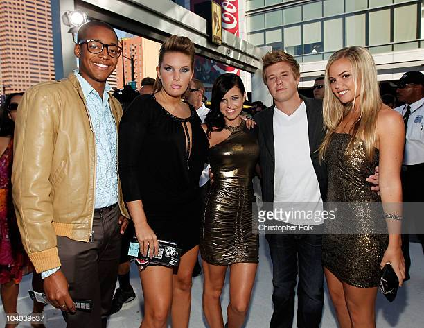 TV personalities Preston O'Neil RobersonCharles Ashlee Feldman Jemmye Carroll Ryan Knight and McKenzie Coburn arrives at the 2010 MTV Video Music...