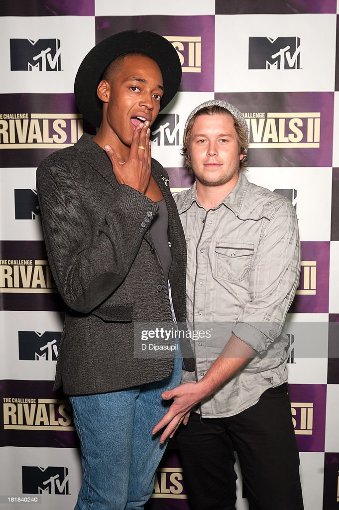 TV personalities Preston Roberson-Charles (L) and <a gi-track='captionPersonalityLinkClicked' href=/galleries/search?phrase=Ryan+Knight+-+Actor&family=editorial&specificpeople=13771026 ng-click='$event.stopPropagation()'>Ryan Knight</a> attend MTV's 'The Challenge: Rivals II' Final Episode and Reunion Party at Chelsea Studio on September 25, 2013 in New York City.