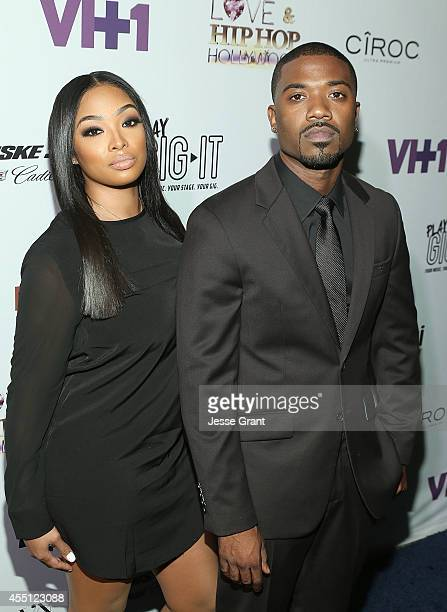 TV personalities Princess Love and Ray J attend the Love Hip Hop Hollywood Premiere Event on September 9 2014 in Hollywood California