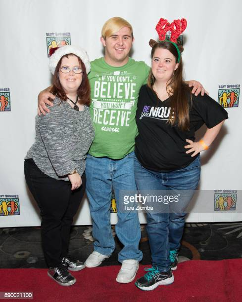 TV personalities Rachel Osterbach Sean McElwee and Caley Versfelt attend Bowling For Buddies at PINZ Bowling Entertainment Center on December 10 2017...