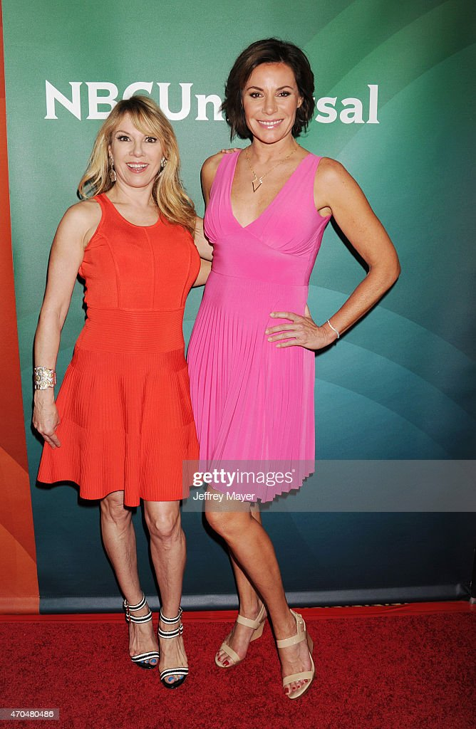 TV personalities Ramona Singer and LuAnn de Lesseps attend the 2015 NBCUniversal Summer Press Day held at the The Langham Huntington Hotel and Spa on...