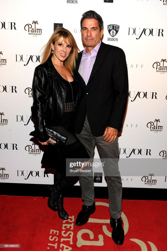 TV personalities <a gi-track='captionPersonalityLinkClicked' href=/galleries/search?phrase=Ramona+Singer&family=editorial&specificpeople=4949817 ng-click='$event.stopPropagation()'>Ramona Singer</a> (L) and Mario Singer attend DuJour's Jason Binn's welcoming NY Nets Star Paul Pierce To NYC event on October 21, 2013 in New York City.