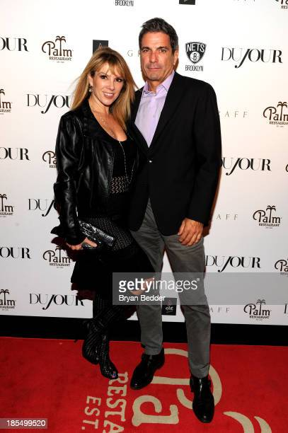 TV personalities Ramona Singer and Mario Singer attend DuJour's Jason Binn's welcoming NY Nets Star Paul Pierce To NYC event on October 21 2013 in...
