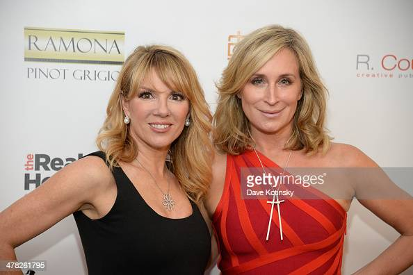TV personalities Ramona Singer and Sonja Morgan attend the 'The Real Housewives Of New York City' season six premiere party at Tokya on March 12 2014...