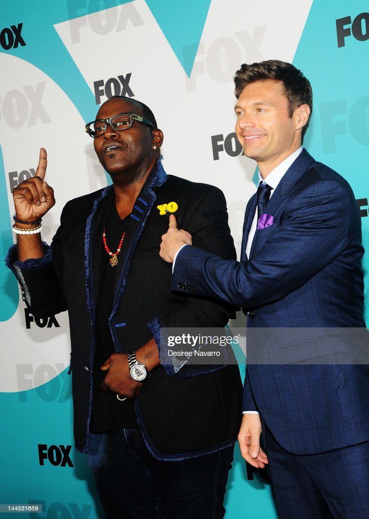 TV Personalities Randy Jackson (L) and <a gi-track='captionPersonalityLinkClicked' href=/galleries/search?phrase=Ryan+Seacrest&family=editorial&specificpeople=201694 ng-click='$event.stopPropagation()'>Ryan Seacrest</a> attend the Fox 2012 Programming Presentation Post-Show Party at Wollman Rink, Central Park on May 14, 2012 in New York City.