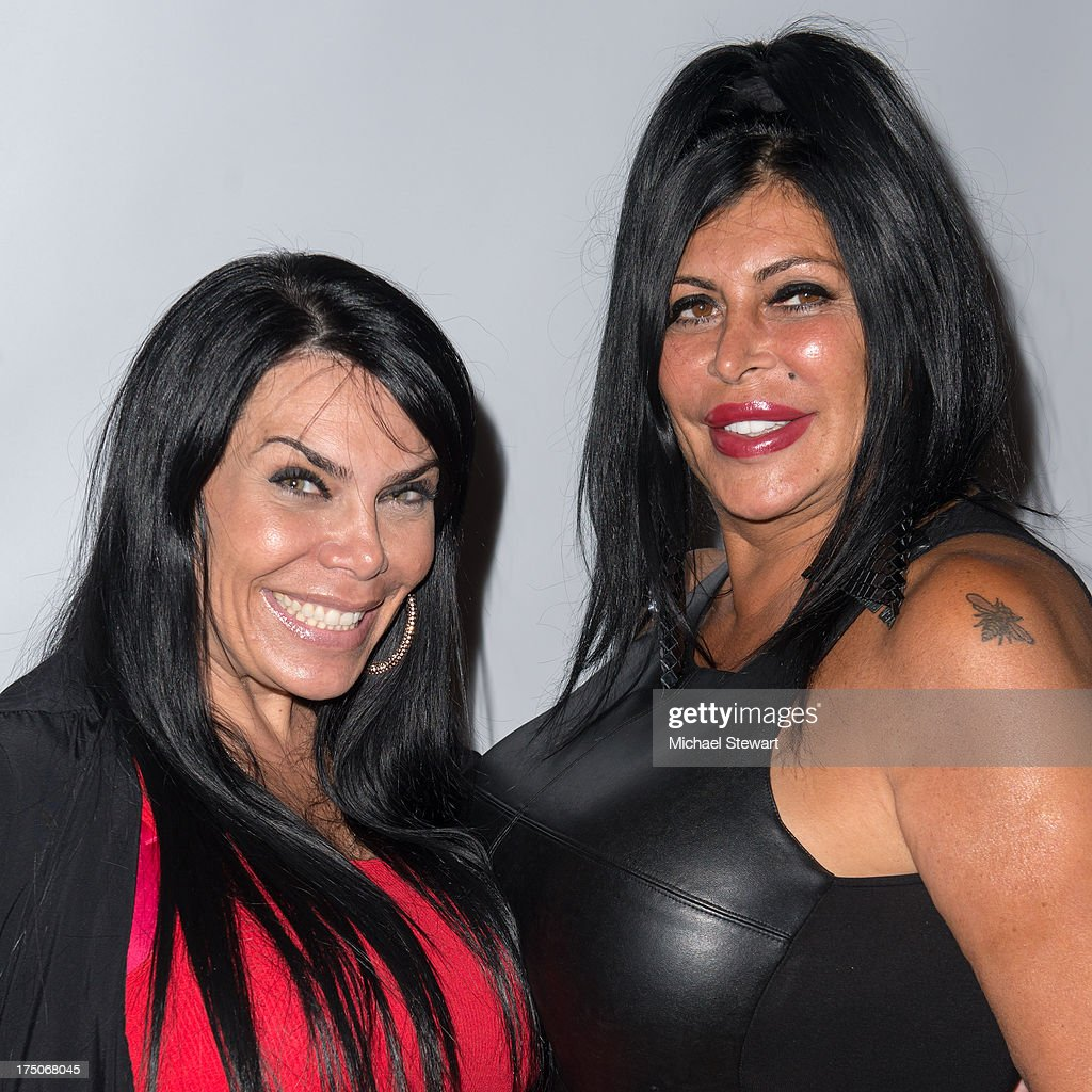 TV personalities <a gi-track='captionPersonalityLinkClicked' href=/galleries/search?phrase=Renee+Graziano&family=editorial&specificpeople=7643222 ng-click='$event.stopPropagation()'>Renee Graziano</a> (L) and Angela '<a gi-track='captionPersonalityLinkClicked' href=/galleries/search?phrase=Big+Ang&family=editorial&specificpeople=8749866 ng-click='$event.stopPropagation()'>Big Ang</a>' Raiola attend dinner and a movie at KTCHN Restaurant on July 30, 2013 in New York City.