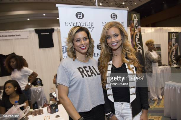 TV personalities Robyn Dixon and Gizelle Bryant andattend Day 2 of the '2017 Ubiquitous Beauty Hair Health Expo' at Walter E Washington Convention...