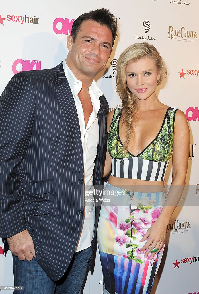 TV personalities Romain Zago and Joanna Krupa attend OK Magazine's So Sexy L.A. Event at LURE on May 21, 2014 in Los Angeles, California.