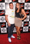 TV personalities Ronnie OrtizMagro and Sammi 'Sweetheart' Giancola attend the GShock 30th Anniversary Kick Off Event at the Hammerstein Ballroom on...