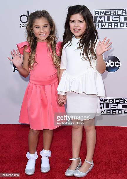 TV personalities Rosie Grace and Sophia Grace arrive at the 2015 American Music Awards at Microsoft Theater on November 22 2015 in Los Angeles...