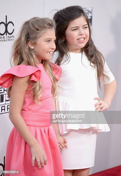 TV personalities Rosie McClelland and Sophia Grace Brownlee attend the 2015 American Music Awards at Microsoft Theater on November 22 2015 in Los...