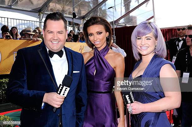 TV personalities Ross Mathews Giuliana Rancic and Kelly Osbourne attend the 20th Annual Screen Actors Guild Awards at The Shrine Auditorium on...
