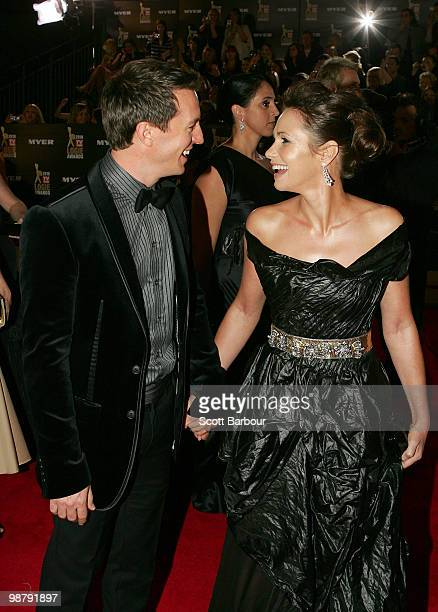 TV personalities Rove McManus and Tasma Walton arrive at the 52nd TV Week Logie Awards at Crown Casino on May 2 2010 in Melbourne Australia