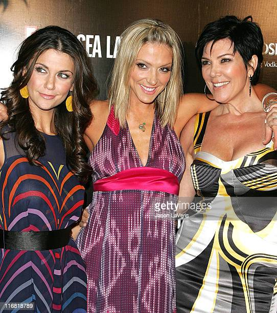 TV personalities Samantha Harris Debbie Matenopoulos and Kris Jenner attend the Chelsea Handler Book Party at CoCo de Ville on April 30 2008 in West...