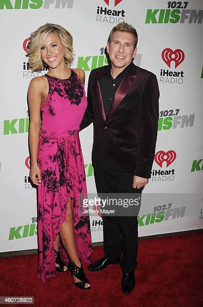 TV personalities Savannah Chrisley and Todd Chrisley attend KIIS FM's Jingle Ball 2014 powered by LINE at Staples Center on December 5 2014 in Los...