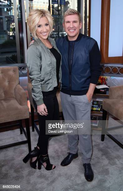 TV personalities Savannah Chrisley and Todd Chrisley visit Hollywood Today Live at W Hollywood on February 24 2017 in Hollywood California