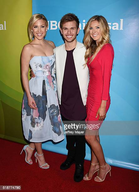 TV personalities Savannah Chrisley Chase Chrisley Lindsie Chrisley arrives at the 2016 Summer TCA Tour NBCUniversal Press Tour at the Four Seasons...