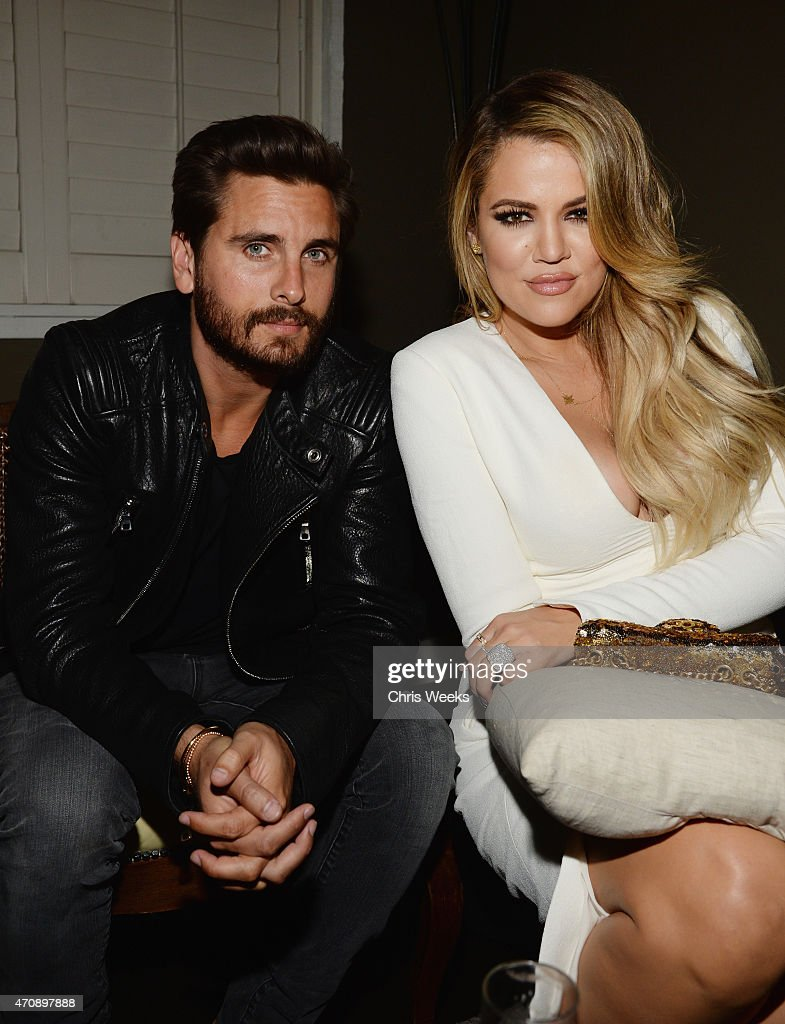 TV personalities Scott Disick (L) and Khloe Kardashian attend Opening Ceremony and Calvin Klein Jeans' celebration launch of the #mycalvins Denim Series with special guest Kendall Jenner at Chateau Marmont on April 23, 2015 in Los Angeles, California.