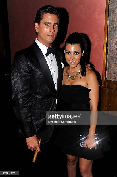 TV personalities Scott Disick and Kourtney Kardashian attend A Night of Style Glamour to welcome newlyweds Kim Kardashian and Kris Humphries at...