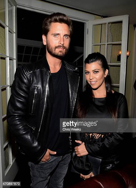 TV personalities Scott Disick and Kourtney Kardashian attend Opening Ceremony and Calvin Klein Jeans' celebration launch of the #mycalvins Denim...