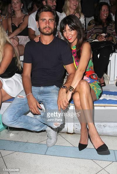 TV personalities Scott Disick and Kourtney Kardashian attend the Wildfox Swim Cruise 2014 show at Soho Beach House on July 21 2013 in Miami Beach...