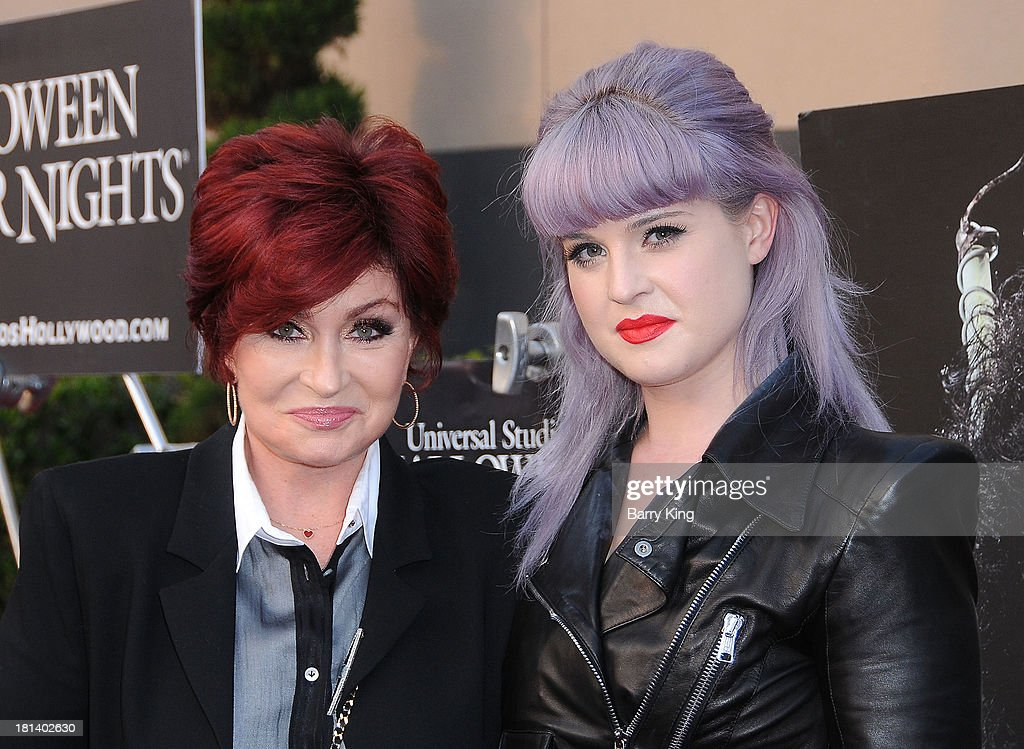 TV personalities Sharon Osbourne (L) and Kelly Osbourne attend Universal Studios 'Halloween Horror Nights' Opening Night and Eyegore Awards on September 20, 2013 at Universal Studios Hollywood in Universal City, California.