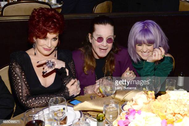 Personalities Sharon Osbourne Kelly Osbourne and musician Ozzy Osbourne attend the 56th annual GRAMMY Awards PreGRAMMY Gala and Salute to Industry...