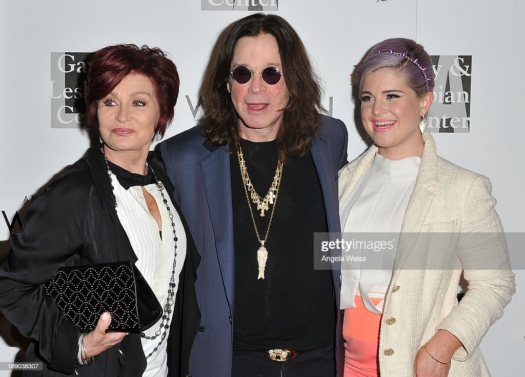 TV personalities Sharon, Ozzy and <a gi-track='captionPersonalityLinkClicked' href=/galleries/search?phrase=Kelly+Osbourne&family=editorial&specificpeople=156416 ng-click='$event.stopPropagation()'>Kelly Osbourne</a> arrive at the L.A. Gay & Lesbian Center's 2013 'An Evening With Women' Gala at The Beverly Hilton Hotel on May 18, 2013 in Beverly Hills, California.