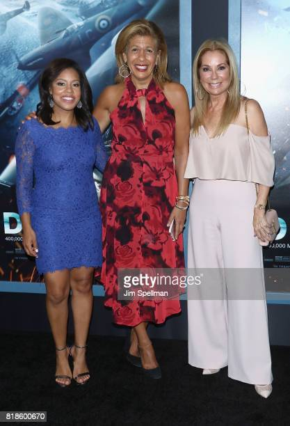 TV personalities Sheinelle Jones Hoda Kotb and Kathie Lee Gifford attend the 'DUNKIRK' New York premiere at AMC Lincoln Square IMAX on July 18 2017...