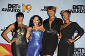 TV personalities Sheree Whitfield Lisa Wu Hartwell NeNe Leakes and Kandi Burruss from 'The Real Housewives of Atlanta' pose in the press room during...