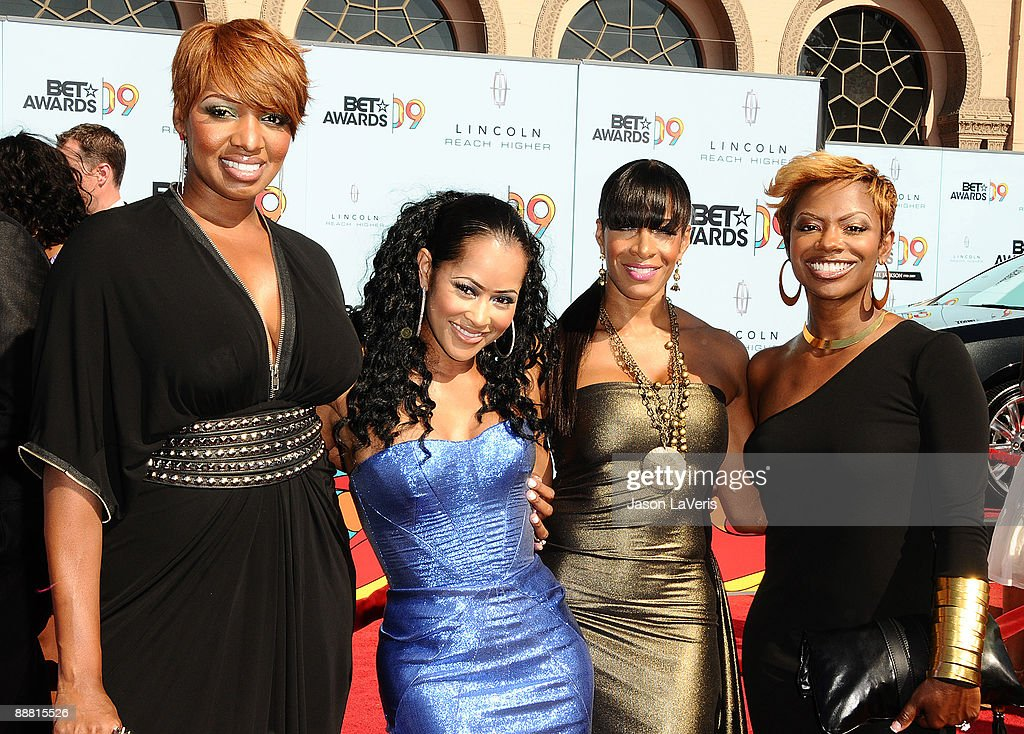 TV personalities Sheree Whitfield, Lisa Wu Hartwell, NeNe Leakes and Kandi Burruss from 'The Real Housewives of Atlanta' attend the 2009 BET Awards at The Shrine Auditorium on June 28, 2009 in Los Angeles, California.